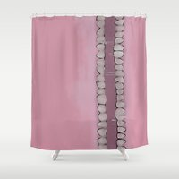 teeth Shower Curtains featuring Teeth by Conrad