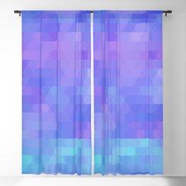 Athena abstract geometric in purple, aqua Blackout Curtain