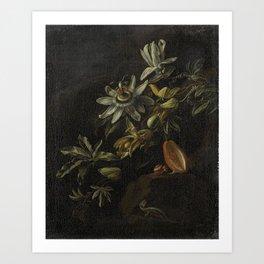 Still Life with Passionflowers - Elias van den Broeck (1670 - 1708) Art Print