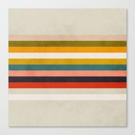 modern abstract stripe geometric Canvas Print