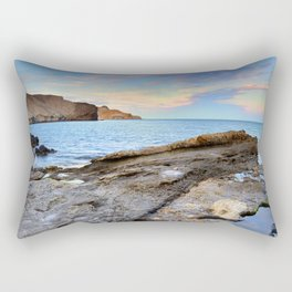 """Volcanic sea"". Cabo de Gata. Rectangular Pillow"
