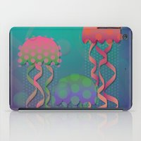polka dot iPad Cases featuring Polka Dot Jellyfish by Graphic Tabby
