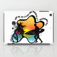 surfing iPad Cases featuring Surfing by mark ashkenazi