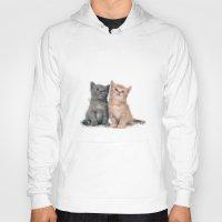 kittens Hoodies featuring Geometric Kittens by lauramaahs