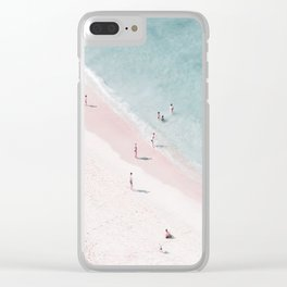 beach family love Clear iPhone Case