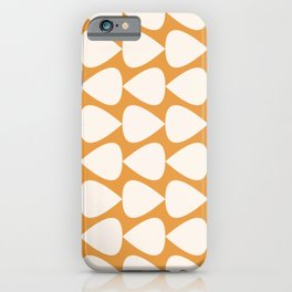 Plectrum Geometric Pattern in Ochre Mustard and Cream iPhone Case