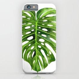 Jungle Leaf Monstera Deliciosa iPhone Case