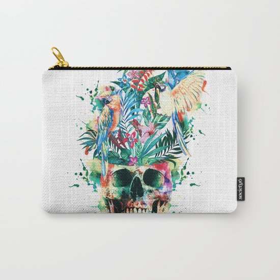 Skull - Parrots Carry-All Pouch