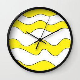 Lines Yellow Wall Clock