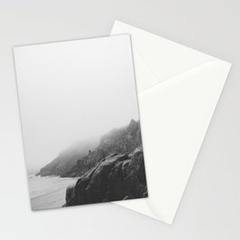 Rugged South Cornish Coast in sea mist. Stationery Cards