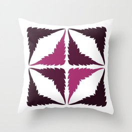 Cannabis Leaf Squares (Purple Pink) Throw Pillow