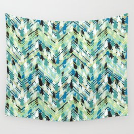 Chevron print with colorful stripes and lines Wall Tapestry