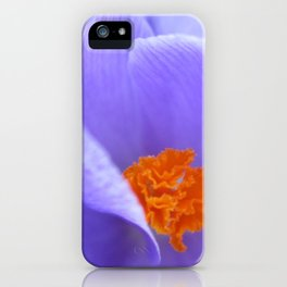 Purple and Orange Floral iPhone Case