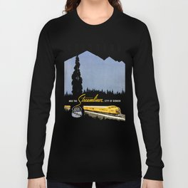 Union Pacific Train poster 1936 - Retouched Version Long Sleeve T-shirt