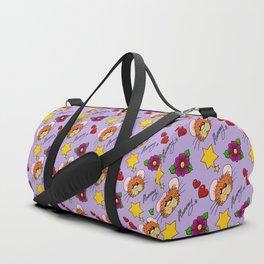 Hammy Pattern in Pale Purple Duffle Bag