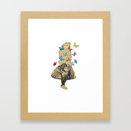 Alice In Wonderland - Vintage Wonderland Book Framed Art Print