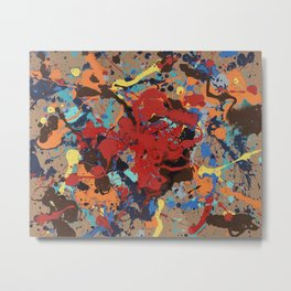 Splatter Heart Metal Print