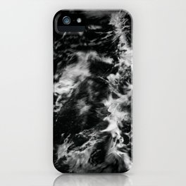 Waves III - Black and White iPhone Case