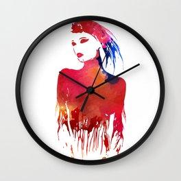 Girl paint Wall Clock