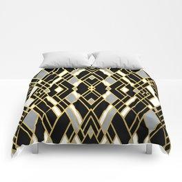 Art Deco Grey Gold Comforters