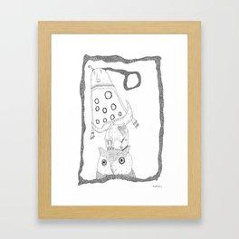 skullhearvoices Framed Art Print