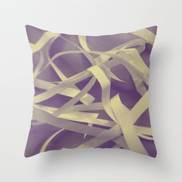 Purple paper Throw Pillow