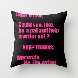Dear Muse Throw Pillow