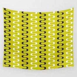 Geometric Pattern 240 (mustard wavy lines) Wall Tapestry