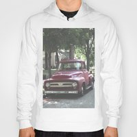 truck Hoodies featuring Red Truck by Derrick Koch