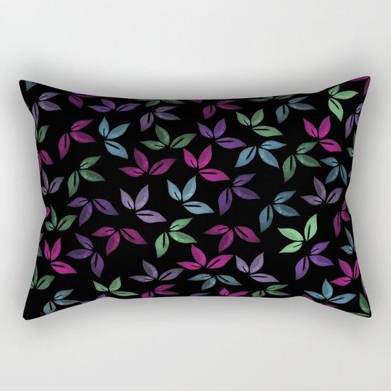 Flower Pattern X Rectangular Pillow