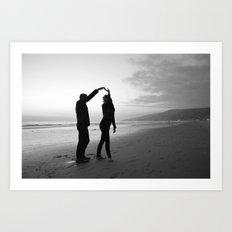 Beach // Love // Dance Art Print