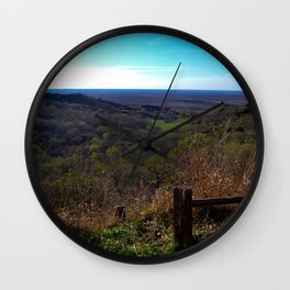 Fall Lanscape Wall Clock