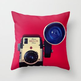 Bull's Eye Camera Throw Pillow