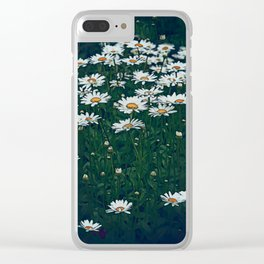 White Field Of Daisies Clear iPhone Case