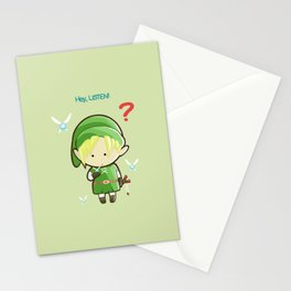 Hey Listen! Cute Link From Zelda Kawaii :) Stationery Cards