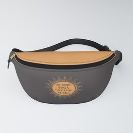 Do More Yoga, Give Less Fucks, Funny Quote Fanny Pack