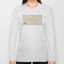 Vintage Map of Somerville MA (1910) Long Sleeve T-shirt