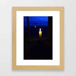 Candlelit Blues - Park Butte, Washington State Framed Art Print