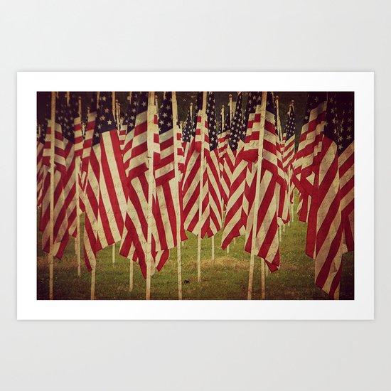 Freedom is Written in Blood Art Print