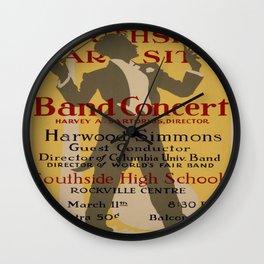 Vintage poster - Southside Varsity Band Concert Wall Clock