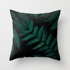 Dark Leaves II Throw Pillow