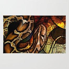 Burmese Python Rug