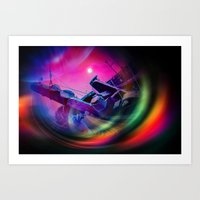 Our world is a magic - Time Tunnel 2 Art Print