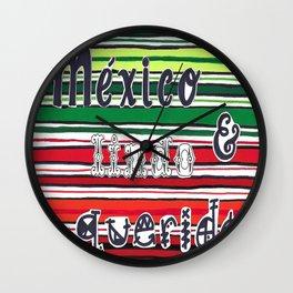 Mexican Zarape Wall Clock