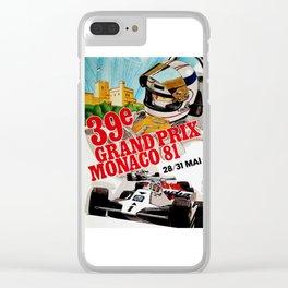 Gran Prix de Monaco, 1981, original vintage poster Clear iPhone Case