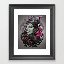 Mistress of Evil Framed Art Print