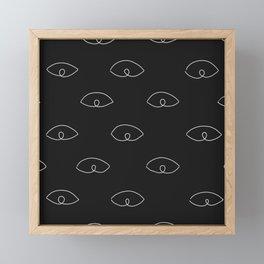 Hundred eyes II Framed Mini Art Print
