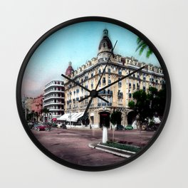 Vintage Hotel Ruhl in Nice during the 1950's Wall Clock