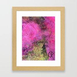 """Abstract Original Painting """"Magenta Ocean"""", Contemporary Artist Abstract Artwork, Mixed Media Framed Art Print"""