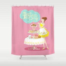 Miss Norbitt's Tea Party Shower Curtain